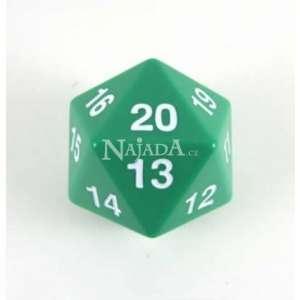 Mega kostka 20-stěnná neprůhledná zelená (55 mm) - NM