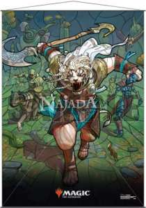 Wall Scroll - Stained Glass Ajani - NM