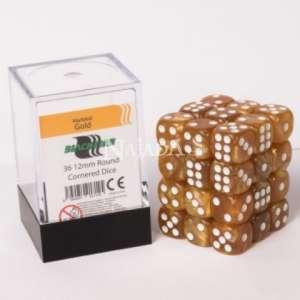 Kostka 6-stěnná - Marbled Gold - NM
