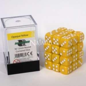 Balení 6-stěnných neprůhledných kostek - Yellow - NM