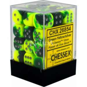 Kostka 6-stěnná neprůhledná - Green/Yellow - NM