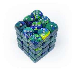 Balení 6-stěnných neprůhledných kostek - Festive Green - NM